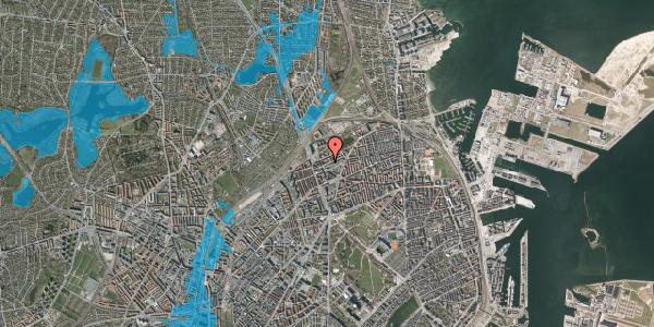 Oversvømmelsesrisiko fra vandløb på Venøgade 9, 1. th, 2100 København Ø