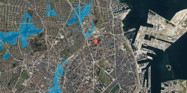 Oversvømmelsesrisiko fra vandløb på Venøgade 11, 2. th, 2100 København Ø
