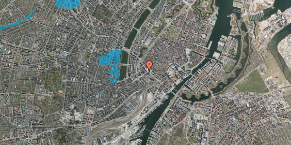 Oversvømmelsesrisiko fra vandløb på Vesterbrogade 2A, st. 2, 1620 København V