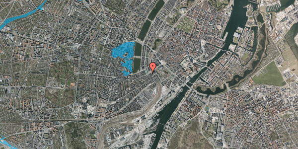 Oversvømmelsesrisiko fra vandløb på Vesterbrogade 9A, 1620 København V