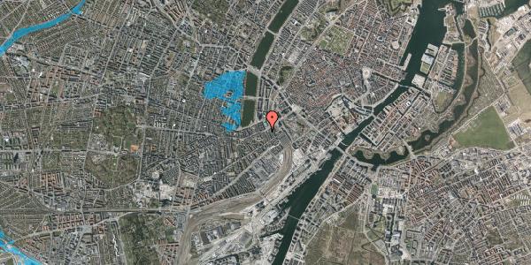 Oversvømmelsesrisiko fra vandløb på Vesterbrogade 11B, st. 1, 1620 København V
