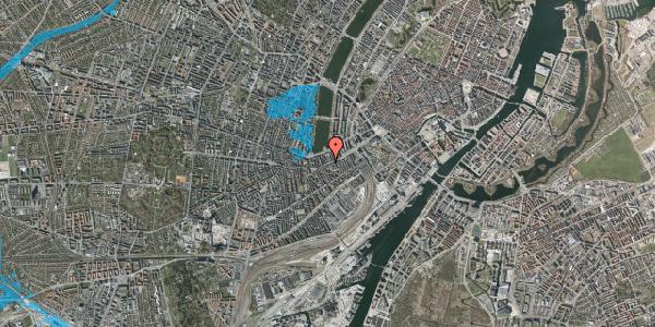 Oversvømmelsesrisiko fra vandløb på Vesterbrogade 24, 3. th, 1620 København V