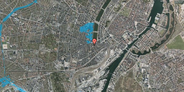 Oversvømmelsesrisiko fra vandløb på Vesterbrogade 48, 4. th, 1620 København V