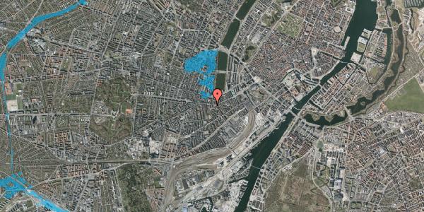 Oversvømmelsesrisiko fra vandløb på Vesterbrogade 55B, 2. tv, 1620 København V