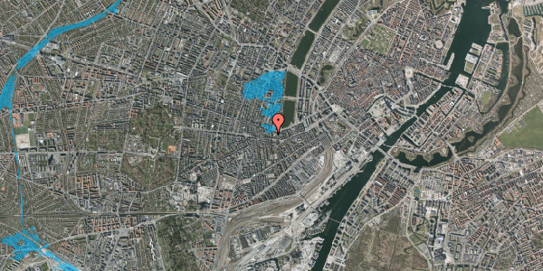 Oversvømmelsesrisiko fra vandløb på Vesterbrogade 62C, 2. tv, 1620 København V