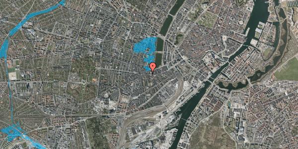 Oversvømmelsesrisiko fra vandløb på Vesterbrogade 62, 3. th, 1620 København V