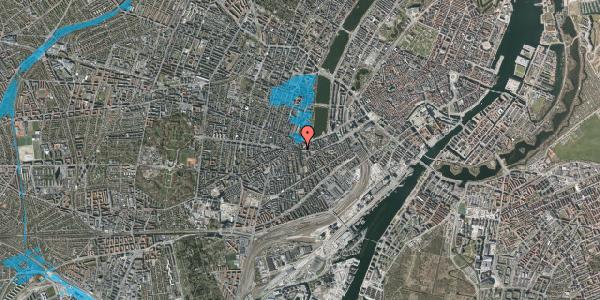 Oversvømmelsesrisiko fra vandløb på Vesterbrogade 64, 3. tv, 1620 København V