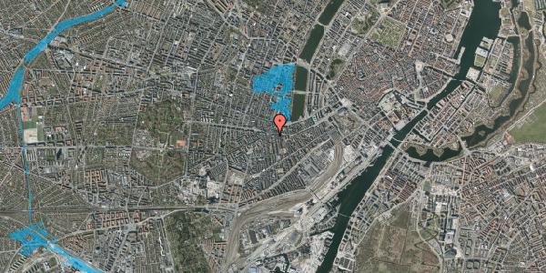 Oversvømmelsesrisiko fra vandløb på Vesterbrogade 69A, 4. tv, 1620 København V