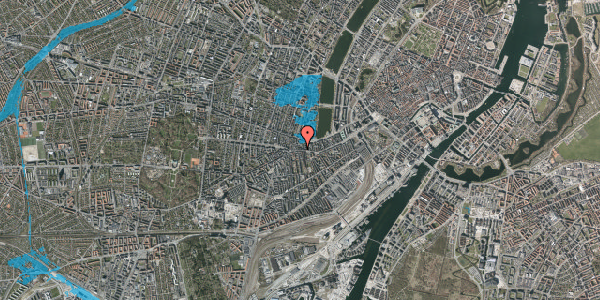Oversvømmelsesrisiko fra vandløb på Vesterbrogade 70, 3. th, 1620 København V