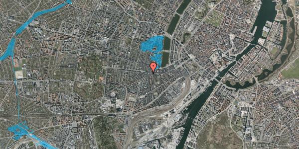 Oversvømmelsesrisiko fra vandløb på Vesterbrogade 73B, 1. , 1620 København V