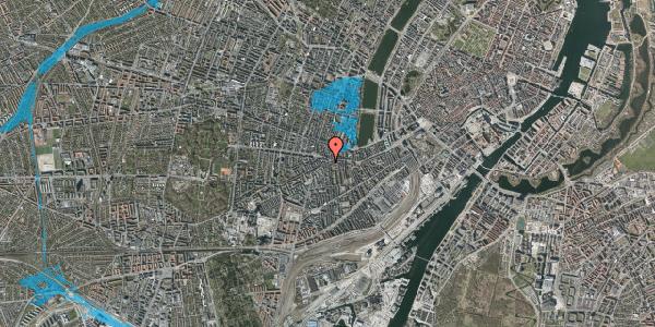 Oversvømmelsesrisiko fra vandløb på Vesterbrogade 77, kl. 3, 1620 København V