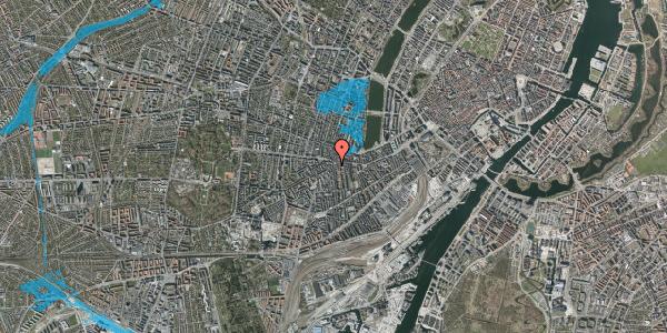 Oversvømmelsesrisiko fra vandløb på Vesterbrogade 77, 4. tv, 1620 København V