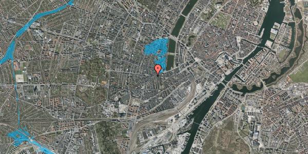 Oversvømmelsesrisiko fra vandløb på Vesterbrogade 82, 3. th, 1620 København V