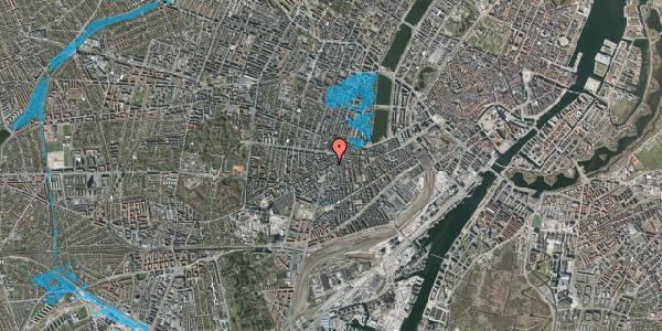 Oversvømmelsesrisiko fra vandløb på Vesterbrogade 89, 4. tv, 1620 København V