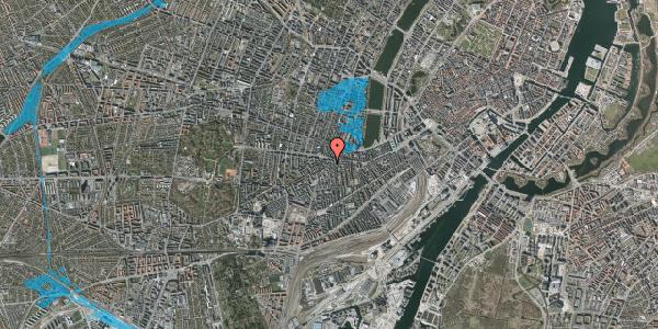 Oversvømmelsesrisiko fra vandløb på Vesterbrogade 90, 1. 1, 1620 København V