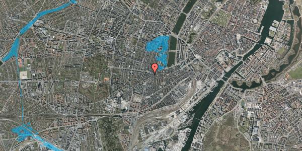 Oversvømmelsesrisiko fra vandløb på Vesterbrogade 92, 1. th, 1620 København V