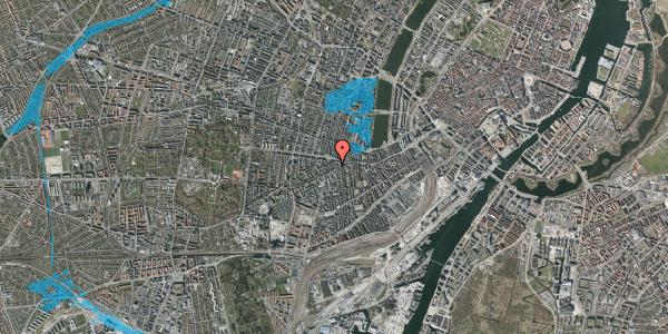 Oversvømmelsesrisiko fra vandløb på Vesterbrogade 94, 1. 107, 1620 København V
