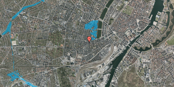 Oversvømmelsesrisiko fra vandløb på Vesterbrogade 94, 2. 211, 1620 København V