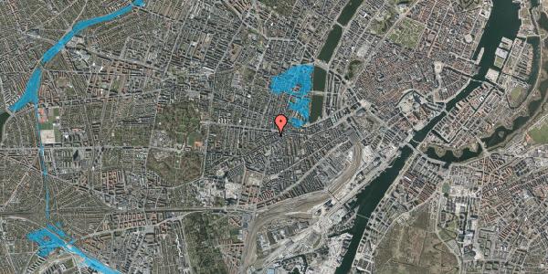 Oversvømmelsesrisiko fra vandløb på Vesterbrogade 98D, 3. tv, 1620 København V