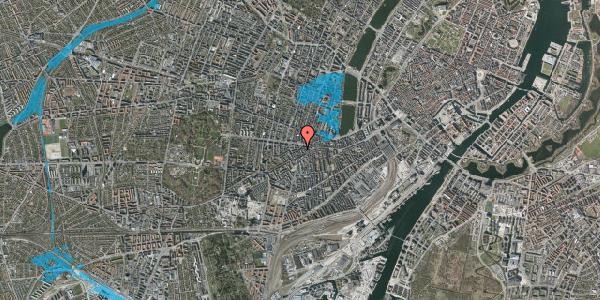 Oversvømmelsesrisiko fra vandløb på Vesterbrogade 98E, 3. tv, 1620 København V