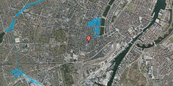 Oversvømmelsesrisiko fra vandløb på Vesterbrogade 105A, 1. 1, 1620 København V