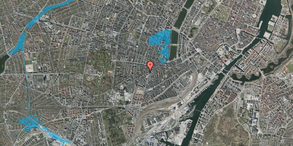Oversvømmelsesrisiko fra vandløb på Vesterbrogade 105B, 1620 København V