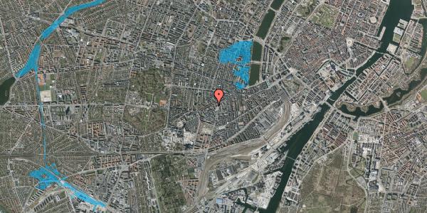 Oversvømmelsesrisiko fra vandløb på Vesterbrogade 111A, 1. tv, 1620 København V
