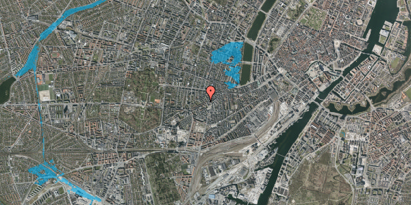 Oversvømmelsesrisiko fra vandløb på Vesterbrogade 114, 2. 6, 1620 København V