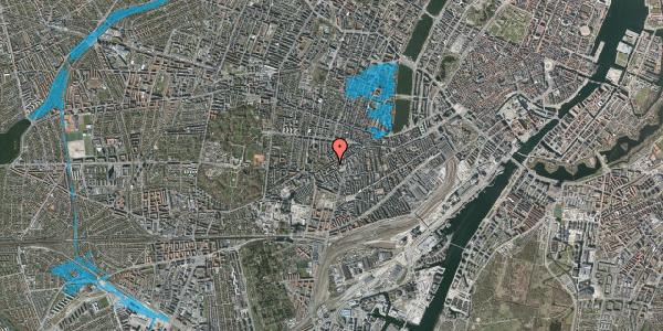 Oversvømmelsesrisiko fra vandløb på Vesterbrogade 115, 1. th, 1620 København V