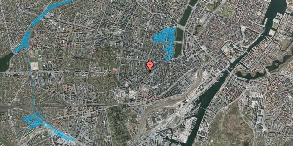 Oversvømmelsesrisiko fra vandløb på Vesterbrogade 117, 1. th, 1620 København V