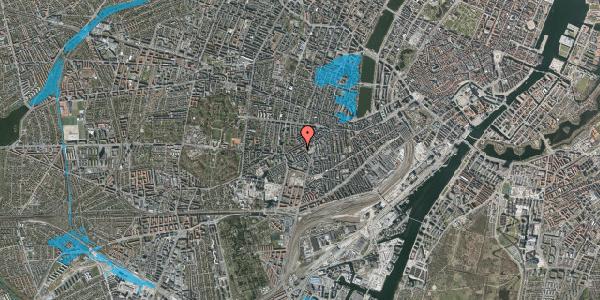 Oversvømmelsesrisiko fra vandløb på Vesterbrogade 119A, 4. tv, 1620 København V