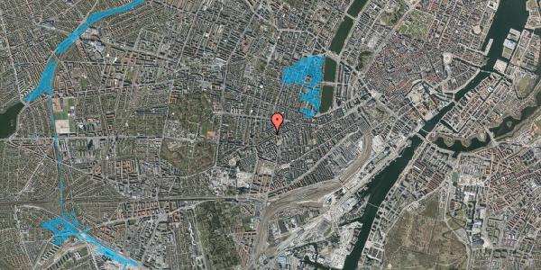 Oversvømmelsesrisiko fra vandløb på Vesterbrogade 120B, 3. tv, 1620 København V