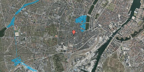 Oversvømmelsesrisiko fra vandløb på Vesterbrogade 120D, 2. tv, 1620 København V
