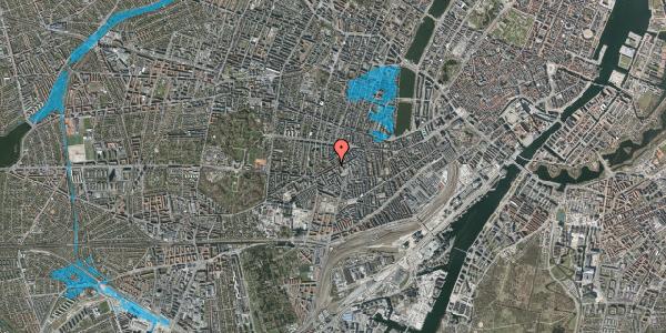 Oversvømmelsesrisiko fra vandløb på Vesterbrogade 122, 4. tv, 1620 København V
