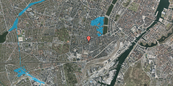 Oversvømmelsesrisiko fra vandløb på Vesterbrogade 126, 2. tv, 1620 København V