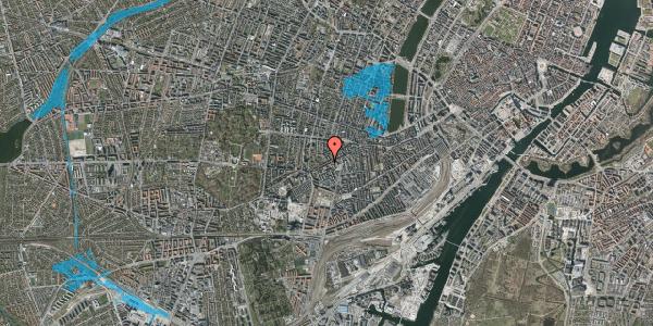 Oversvømmelsesrisiko fra vandløb på Vesterbrogade 126, 3. th, 1620 København V
