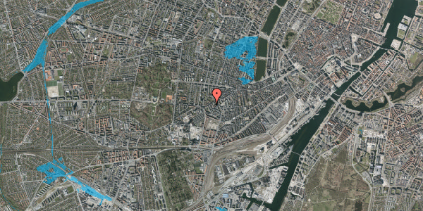Oversvømmelsesrisiko fra vandløb på Vesterbrogade 127B, 1. , 1620 København V