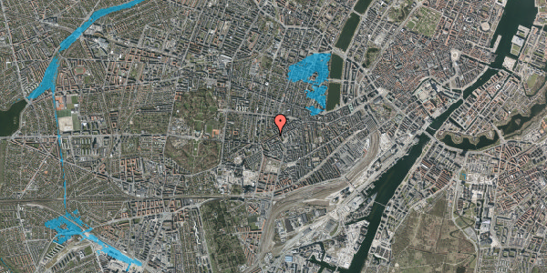 Oversvømmelsesrisiko fra vandløb på Vesterbrogade 128B, st. tv, 1620 København V