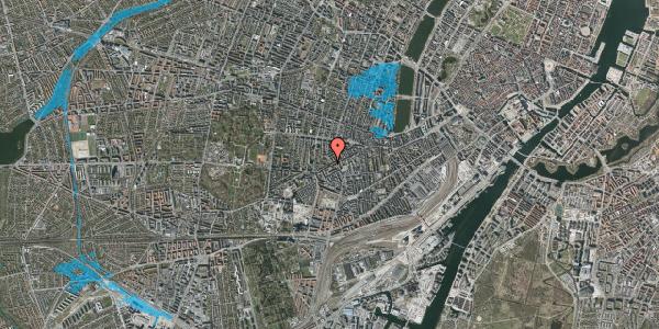 Oversvømmelsesrisiko fra vandløb på Vesterbrogade 130B, 4. tv, 1620 København V