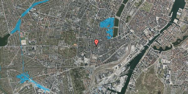 Oversvømmelsesrisiko fra vandløb på Vesterbrogade 134, 3. tv, 1620 København V