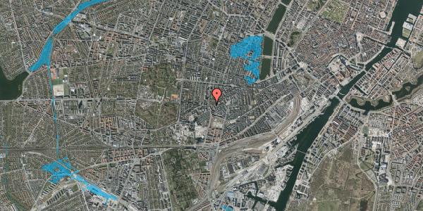 Oversvømmelsesrisiko fra vandløb på Vesterbrogade 135, 3. tv, 1620 København V