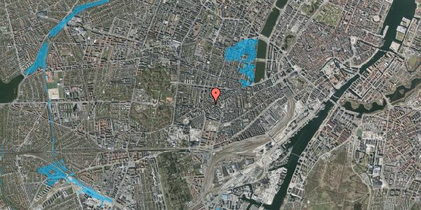 Oversvømmelsesrisiko fra vandløb på Vesterbrogade 138A, 1. th, 1620 København V