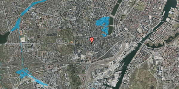 Oversvømmelsesrisiko fra vandløb på Vesterbrogade 138A, 3. th, 1620 København V
