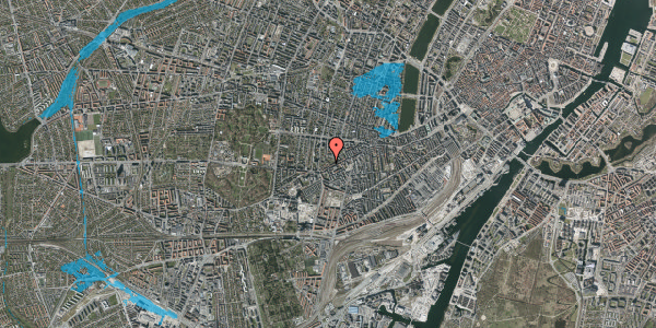 Oversvømmelsesrisiko fra vandløb på Vesterbrogade 140E, 1. 2, 1620 København V