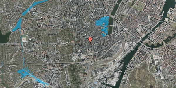 Oversvømmelsesrisiko fra vandløb på Vesterbrogade 144F, 1. tv, 1620 København V