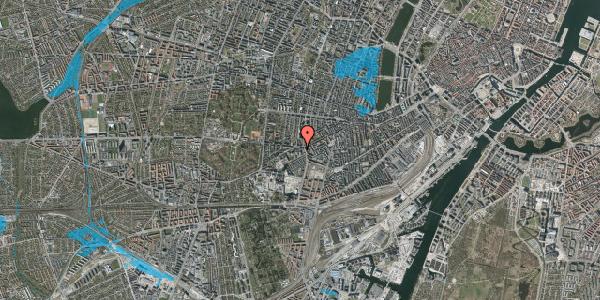 Oversvømmelsesrisiko fra vandløb på Vesterbrogade 145B, 1. th, 1620 København V