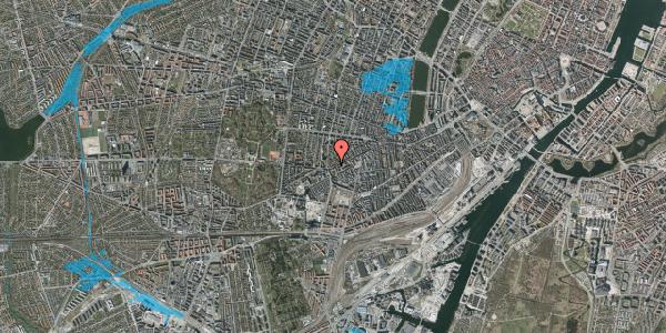 Oversvømmelsesrisiko fra vandløb på Vesterbrogade 146B, 4. tv, 1620 København V