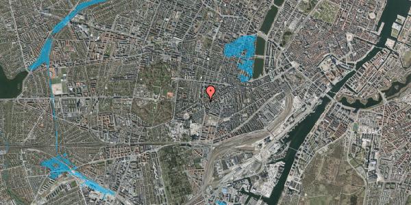 Oversvømmelsesrisiko fra vandløb på Vesterbrogade 148B, 2. tv, 1620 København V