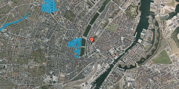 Oversvømmelsesrisiko fra vandløb på Vester Farimagsgade 35A, 4. tv, 1606 København V