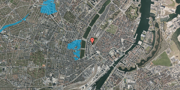Oversvømmelsesrisiko fra vandløb på Vester Farimagsgade 41, 7. , 1606 København V